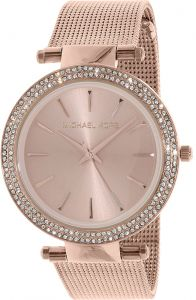 611e5ef78da2 Michael Kors Darci Women s Rose Gold Dial Stainless Steel Band Watch -  MK3369