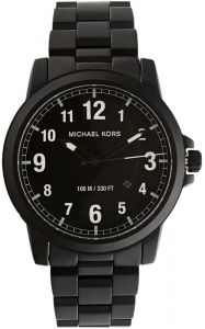 a5d114000266 Michael Kors Paxton Men s Black Dial Stainless Steel Band Watch - MK8532