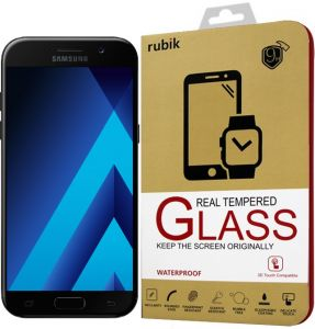 For Samsung Galaxy A5 2017 - Rubik Gold Edge Full Curved 3D Tempered Glass Screen Protector For Samsung Galaxy A5 2017