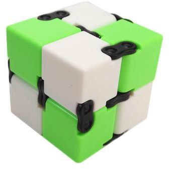 Magic Folding Cube Puzzles Infinity Fidget Cube Stress Relief Toy, Green