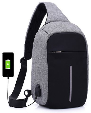 a65f417b25 Multifunctional digital storage chest bag anti-theft handbag shoulder bag  man Sports Backpack-grey zZ