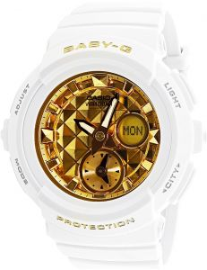 Casio Baby-G Women s Gold Dial Rubber Band Watch - BGA195M-7A b802ec0d827