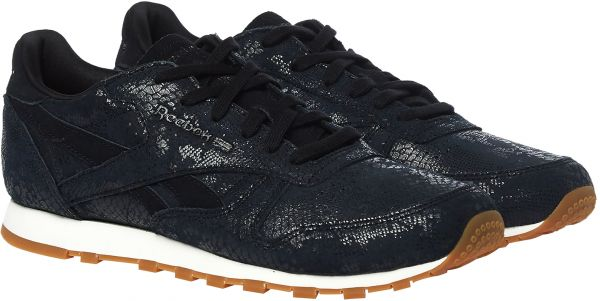9817387827f Reebok Classic Leather Clean Exotics Walking Shoes For Women