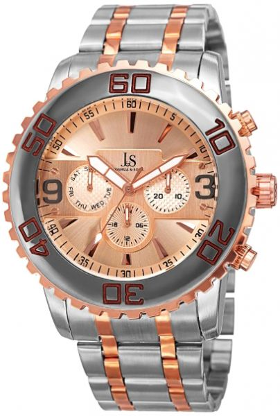 aa18ac07181 Joshua and Sons Imperial Brushed Radiant Men s Rose Gold Dial Alloy ...