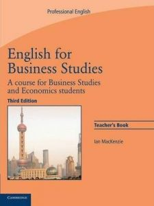 English for Business Studies: Teacher's Book: A Course for Business Studies and Economics Students By Ane Books