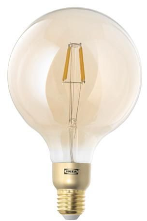 Lunnom Led Bulb E27 400 Lumen Dimmable Globe Brown Clear Glass