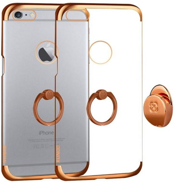 low priced 715e5 8b238 Apple iPhone 6/6s (4.7 Inch ) Xundo Ring Series Case Cover with Car Holder  - Rose Gold & Clear