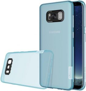 Nillkin Nature Series Clear Soft TPU Case Back Cover [Ultra Thin] [Slim Fit] for Samsung Galaxy Note 8 - Clear Blue