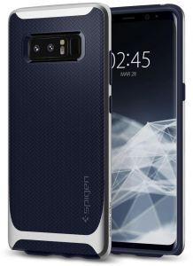 Spigen Samsung Galaxy Note 8 Neo Hybrid cover / case - ARCTIC SILVER with Midnight Blue TPU back