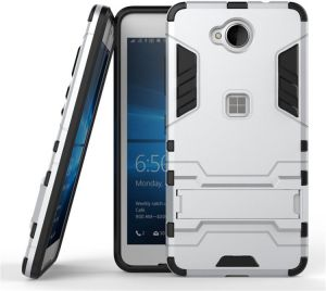 the best attitude 05dff d27af Nokia Lumia 650 Two-In-One Stand Phone Case Iron Man Protective Cover -  Silver