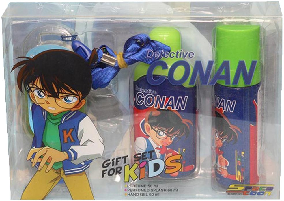 Conan Perfum with Splash and Handgel by Space Toon for Boys - Assorted Fragrances, 160 ml, 3 Piece