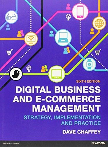 Digital Business and E-Commerce Management ,Ed. :6