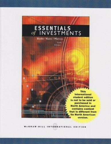 Essentials of Investments: International Edition ,Ed. :6