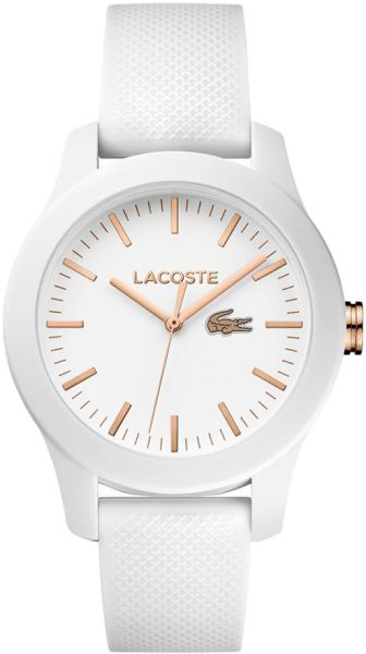 f37ea90bd Lacoste L.12.12 Women's White Dial Rubber Band Watch - 2000960