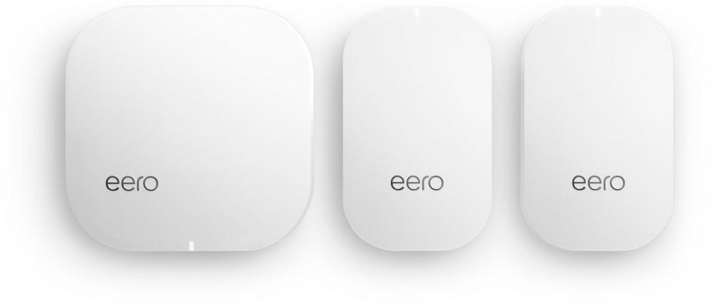 eero Home WiFi System (1 eero + 2 eero Beacons) - TrueMesh Network Technology, Gigabit Speed, WPA2 Encryption, Replaces Wireless Router,