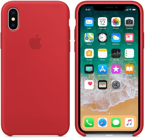 best loved e9394 2a06c Apple iPhone X Silicone Case - Red MQT52