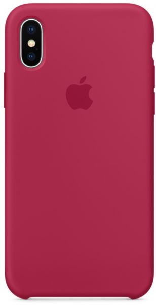 Apple Iphone X Silicone Case Rose Red Mqt82zm A Souq Uae