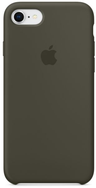 huge selection of 79ed9 f5c52 Apple iPhone 8 / 7 Silicone Case - Dark Olive, MR3N2ZM/A