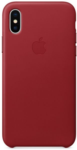 brand new 9c438 d5f47 Apple iPhone X Leather Case - Red, MQTE2ZM/A
