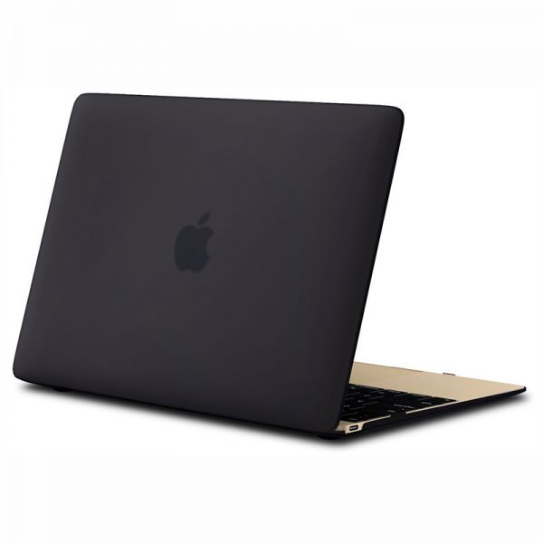 cd8b874eb6aa Ozone Rubberized Matte Hard Case Cover For Apple Macbook 12 Inch Retina  Display A1534 - Black