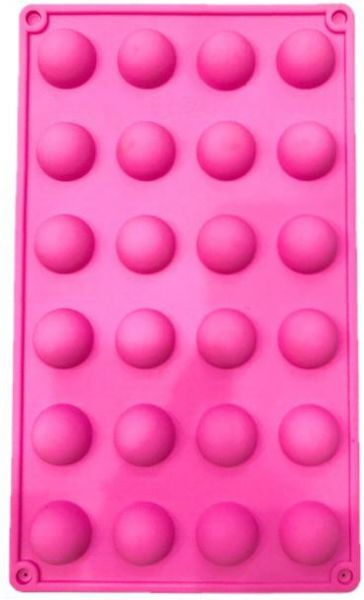24 pcs mini ball shape silicon bake mold,size29X18cm,food grade ,oven,microwave,freezer and dishwasher safe