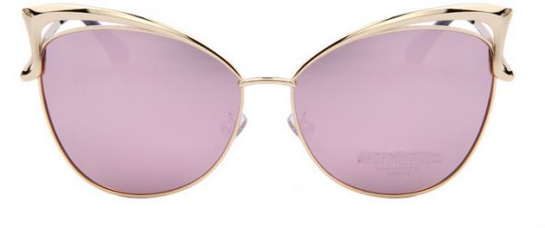 Pink Woman Luxury Butterfly Sunglasses big silver frame retro sunglass GT026