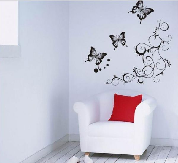 classic butterfly flower home wedding decoration wall stickers for