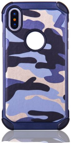 DOWIN Outdoor BLUE Camouflage Armor Case For iPhone X | Souq - UAE