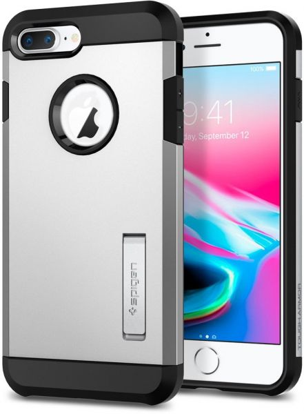 f612f68c0fbc10 Spigen iPhone 8 PLUS / 7 PLUS Tough Armor 2 cover / case - Satin Silver |  KSA | Souq