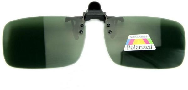 29b1ff57d9 Men Lady Polarized Clip On Flip Up Night Vision Driving Glasses Sunglasses  Dark Green