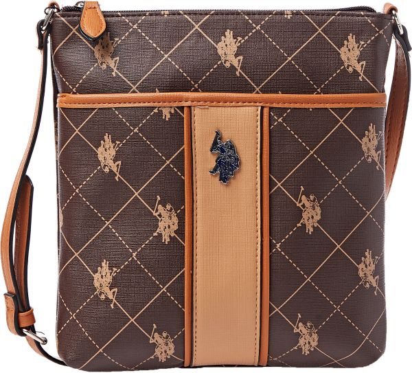 U.S. Polo Assn. Crossbody Bag for Women - Brown  557b3906f119d