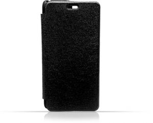 LG K10 2017 Black Frosted PU Leather Flip Cover