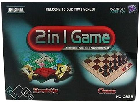 2 In 1 Chess And Scrabble Board Card Games No0828
