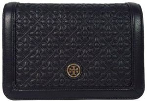 2ce0740bc5d3 Tory Burch Black BRYANT Quilted Cross Body Bag