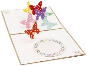 Pop up 3d greeting card 1pkg happy birthday vaibysamerican 3d pop up flying butterfly birthday gift greeting card 15x12cm m4hsunfo