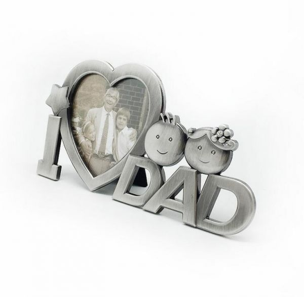 Metal I Love Dad Photo Frame For Father Birthday Valentine And