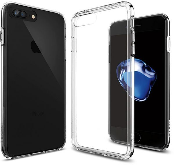 info for a19c1 2c0be Spigen iPhone 8 PLUS, 7 PLUS, Ultra Hybrid Case, Crystal Clear