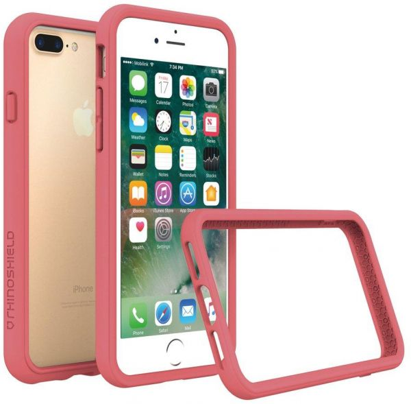 best website 8437a 14876 RhinoShield CrashGuard Bumper Case for iPhone 8 Plus - Coral Pink