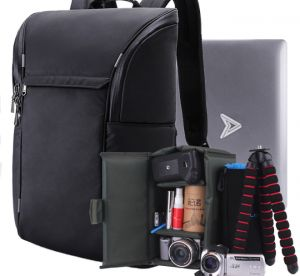 ea9b1242e59b Nylon DSLR Camera Backpacks Video Case 15.6-17inch Laptop Backpack Rucksack  with Camera liner Package