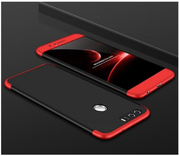 release date: 862b3 81a02 Huawei Honor 8 Case, Fashion ultra Slim Gkk 360 Full Protection Cover Case  - Red & Black