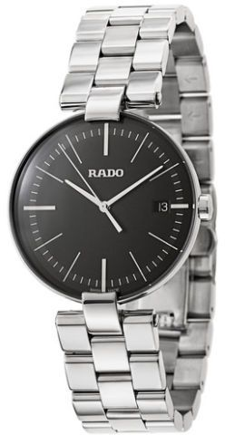 efd6f20be0b Rado Coupole L Men s Black Dial Stainless Steel Band Watch ...
