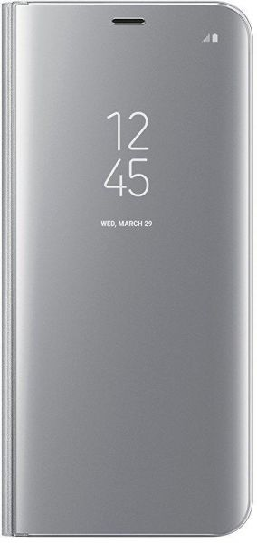 outlet store 33a7b c55ce Clear View Mirror Stand Flip Cover for Samsung Galaxy Note 8 - Silver