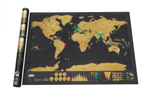 Sale on maps atlases globes palomar easy map advertising world map black deluxe scratch map travel scratch off world map best gift for travelers gumiabroncs Images