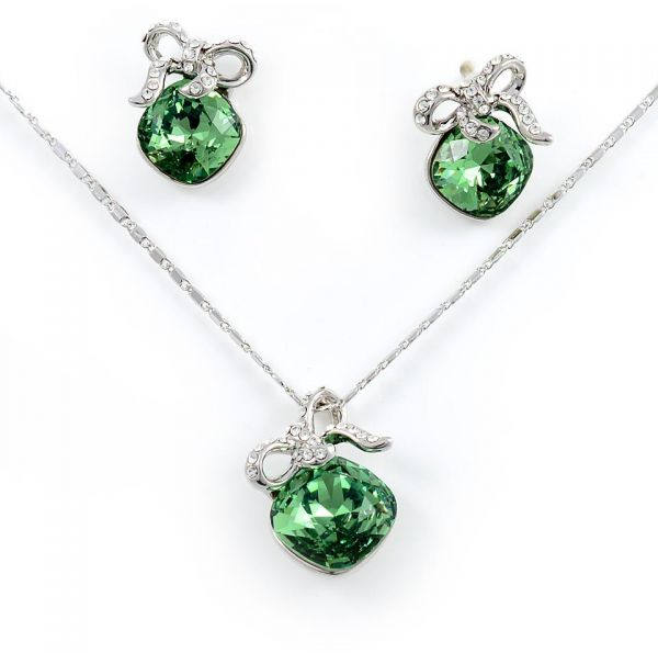 711.00 AED  sc 1 st  Souq.com & Buy Swarovski Elements 18K White Gold Plated Jewelry Set Encrusted ...