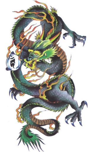 dragon Body Sticker Tattoo for man women Temporary Tattoos Paper ... 5f0710a95