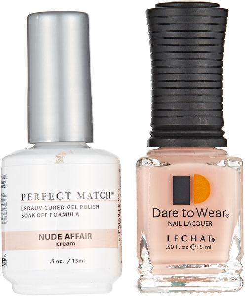 Lechat Perfect Match LED and UV Cured Gel Nail Polish - Nude