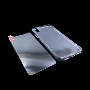 iPhone X case, Crystal Transparent Clear Flexible Soft Gel TPU Cover shell Skin for Apple iPhone X (2017 Release)(Clear) with Screen Protector Tempered ...
