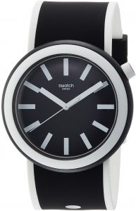 f56a92f5bf9 Swatch New Pop Poplooking Unisex Black Dial Silicone Band Watch - PNB100