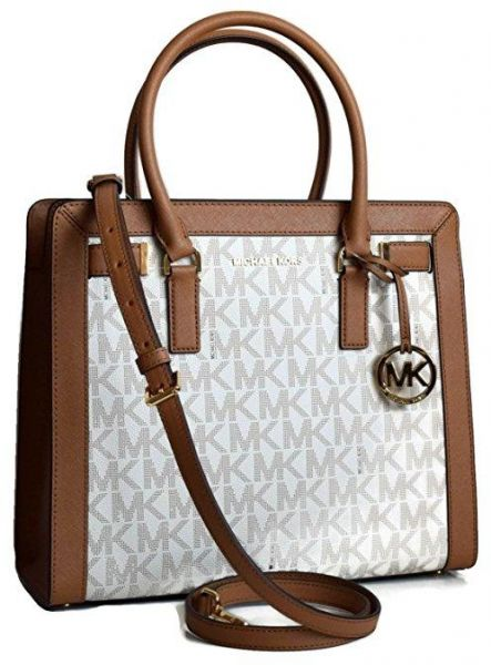 470782510113 Michael Kors Dillon Monogram Small Satchel /Crossbody Bag Vanilla ...
