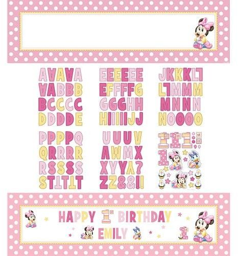 Minnie Mouse 1st Birthday Giant Sign Banner